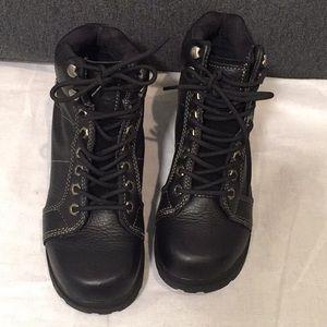 Harley Davidson Black Leather Boots Size 8.5